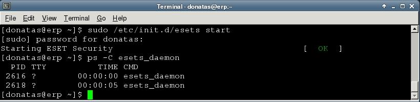 daemon startup