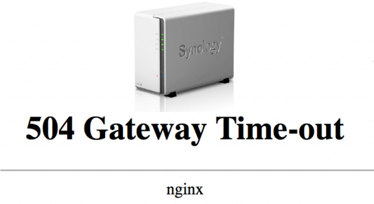 How to fix Synology 504 nginx time-out